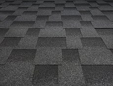 Bitumen shingle roof